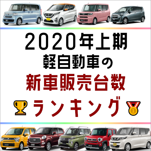 2020年上期 軽自動車の新車販売台数ランキング